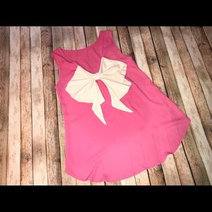 Altar'd State - Pink Sleeveless Top with Bow Back